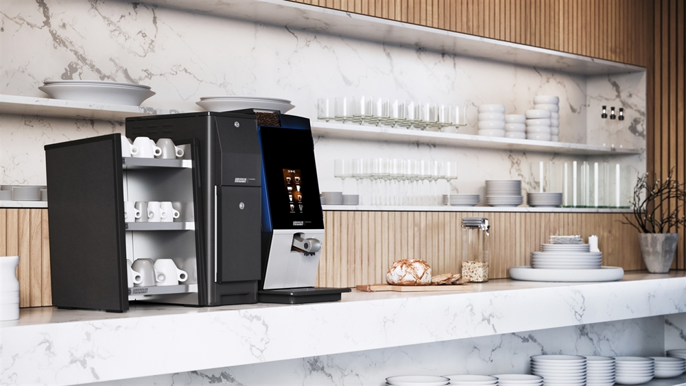 Coffee machine installed into a office